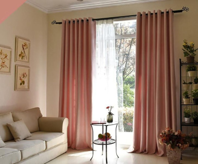 Curtains Super Soft Solid Thermal Insulated Blackout Curtains Noise Reduction Anti-UV Curtains Imitation Flax Curtains Bedroom Living Room Balcony Perforated Curtains (one pair)