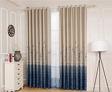 Curtains Blackout Curtains Insulated Noise Reduction Anti-UV Curtains Thickened Polyester Curtains Bedroom Living Room Balcony Perforated Curtains (one pair) ( Size : 250CM*270CM )