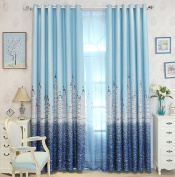 Curtains Blackout Curtains Insulated Noise Reduction Anti-UV Curtains Thickened Polyester Blended Curtains Bedroom Living Room Balcony Perforated Curtains (one pair)