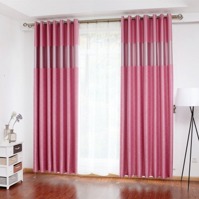 Curtains Blackout Curtains Insulated Noise Reduction Anti-UV Curtains Thickened Polyester Curtains Bedroom Living Room Balcony Perforated Curtains (one pair) ( Size : 200CM*270CM )