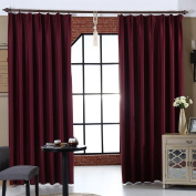 Curtains Super Soft Solid Thermal Insulated Blackout Curtains Noise Reduction Anti-UV Curtains Thickened Curtains Bedroom Living Room Balcony Hook Up Curtains (one pair)