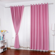 Curtains Super Soft Solid Thermal Insulated Blackout Curtains Noise Reduction Anti-UV Curtains Thickened Polyester Curtains Bedroom Living Room Balcony Perforated Solid Colour Curtains (one pair)