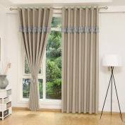 Curtains Blackout Curtains Insulated Noise Reduction Anti-UV Curtains Thickened Polyester Curtains Bedroom Living Room Balcony Perforated Curtains (one pair)