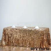 Efavormart 230cm X 340cm Gold Premium Big Payette Sparkly SEQUIN Rectangle Tablecloth For Wedding Banquet Party