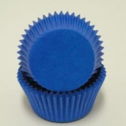 CakeSupplyShop Blue Solid Coloured Mini Cupcake Liners - Baking Cups -250pack with Edible Sparkle Flakes