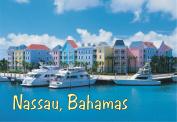 Nassau, Bahamas, Harborside, Island, Boats, Beach, Souvenir Magnet 2 x 3 Fridge Magnet