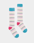 Joules Fab Fluffy Socks In Silver In One Size