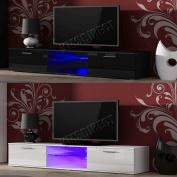Foxhunter Modern High Gloss Matt Tv Cabinet Unit Stand Blue Led Light Tvc05 New