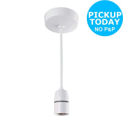Ceiling Rose With Bc Light Bulb Fitting - White -from The Argos Shop On