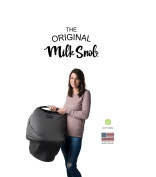 "AS SEEN ON SHARK TANK The Original Milk Snob Infant Car Seat Cover and Nursing Cover Multi-Use 360° Coverage Breathable Stretchy ""Slate"""