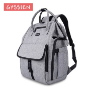 Baby Nappy Bag with Rectangular Open Design by GYSSIEN, Waterproof & Fashionable Maternity Nappy Backpack for Baby Care, 25L Large Capacity Multi-functional Daily Travel Backpack