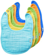 green sprouts Muslin Bibs made from Organic Cotton,Blue Set
