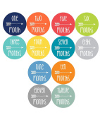 NEW Baby Month Stickers Baby Tribal Arrows Months 1-12 Monthly Age Sticker Boys 12 Different Colours 1067