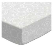 SheetWorld Fitted Bassinet Sheet - Grey Multi Circles - Made In USA