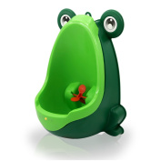 Sundee Boy's Baby Urinal - Cute Frog Standing Potty Training Urinal for Pee Trainer with Funny Aiming Target - Blackish Green