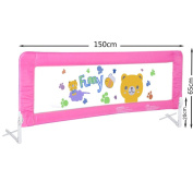 Baby Bed Rail Children Extra Long Bed Guard Toddler Safety Fold Down Bedrail Potable Stop Falling Blue Pink Colour