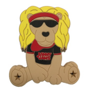 Jammy Jams 'Lobie The Lion Teething Toy' by Gumeez - Black/Red w/ 10 Free Jammy Jams Lullaby Downloads