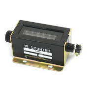 DealMux D94-S 0-999999 6 Digit Rotary Knob Resettable Manual Tally Counter