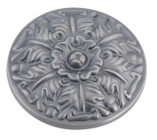 Atlas Homewares 138-P 3.8cm The Classics Collection Ornate Small Round Hammered Knob, Pewter