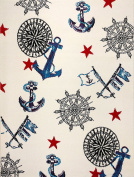 KC CUBS Boy and Girl Bedroom Modern Decor Area Rug and Carpet Collection For Kids and Children Nautical Sailor