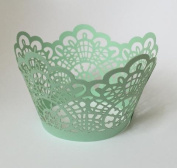 12 pcs Crochet Lace Cupcake Wrappers Wrapper for Standard Size Cupcake Liners