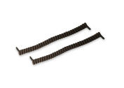 Rehabilitation Advantage Curly No-Tie Shoelaces, Brown, 0kg