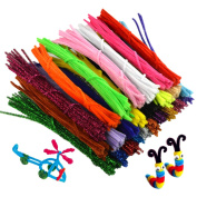 Pistha 750pcs Craft Pipe Cleaners 6mmx12inch Reusable Chenille Wire Stem Craft Bendable Twistable Children Puzzle DIY Kindergarten Handmade Art Supplies Assorted Colours Early Education