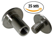 NDC 1cm Stainless Steel Chicago Screws Binder Posts 25 sets