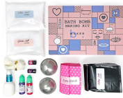 bMAKER Bath Bomb Kit- Complete Kit for Making DIY 8 Plus Large Size Scented Bath Bombs with Therapeutic Essential Oils - Best Gift for Kids, Mom and Every Occasion.