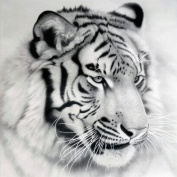 Vibola DIY 5D Tiger Diamond Painting Cross Stitch Rhinestone Embroidery Home Decor