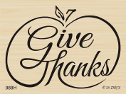 Give Thanks Brush Pumpkin Rubber Stamp by DRS Designs Rubber Stamps