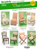 Simplicity 5952 Easy Chair Covers Pattern w/ Spanish Instructions Included