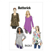 Butterick Ladies Plus Size Easy Sewing Pattern 6263 Tunic Tops