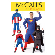 McCall Pattern Company M7002 Men's'/Children's/Boys' Costumes, Size KID