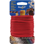 Needloft Novelty Craft Cord 20yd-Metallic Red