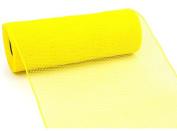 25cm x 9.1m Deco Poly Mesh Ribbon (Yellow) : RE130229