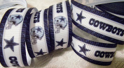 Grosgrain Ribbon - *COWBOYS SPIRIT PRINT #3* - 2.2cm Wide - 5 Yards - Hair Bows & Crafts