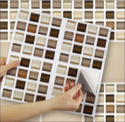 """GLASS STONE sheet of 4 Transfer Tile Stickers for 6"""" x 6"""" (15cm x 15cm) tiles 3M Self Adhesive sheet of four tile sticker transfers for Kitchens & Bathrooms Fully wipeable, steam and heat resistant, non see through material. 35 NEW STYLES available fro .."""