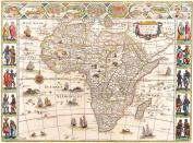 A3 Print - Antique Map of Africa - William Blaeu - 1644