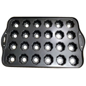 Deluxe 24 Mini Cheesecake Cup Cake Tray Non Stick Muffin Cupcake Mould Pan Baking Bake Tin Kitchen Cookware Bakeware