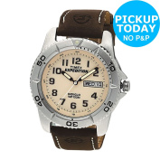 Timex Men's Expedition Brown Strap Watch Easy Read Dial :argos Shop On