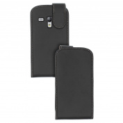 New for Samsung Galaxy S Iii S3 Mini Leather Executive Flip Cover Case Black