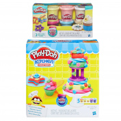 Play-Doh Kitchen Creations Frost n' Fun Cakes Play Set + Play-Doh Confetti Compound Bundle