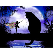Kixing(TM) 5D Embroidery Cat Paintings Rhinestone Pasted DIY Diamond Painting Cross Stitch D