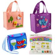 Sewing Kit for Kids for Beginners 3 Assorted Design Children Lovely Handbag by MeMo Toys