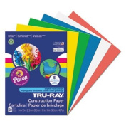 Tru-Ray Construction Paper, 34kg., 9 X 12, Assorted Primary, 50 Sheets/Pack, One random colour will be shipped
