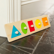 Fat Brain Toys Let's Learn Shapes! Wooden Puzzle