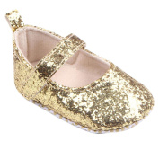 YJYdada Soft Sole Prewalker Sequin Mary Jane Shoes for Baby Toddler Infant Girls (13