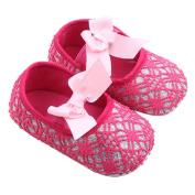 YJYdada Baby Prewalker Bowknot Elastic Band Anti-slip Soft Sole Shoes for Toddlers Infants (12