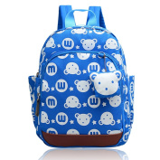 Vox Cute Mini Kids Backpack Toddler Boys with Safety Harness, Small Childrens Backpack Harness for Boys with Chest Strap Light Blue